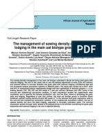 The management of sowing density on yield and lodging in the main oat biotype grown in Brazil