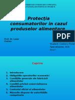 Protecţia Consumatorilor in Cazul Produselor Alimentare