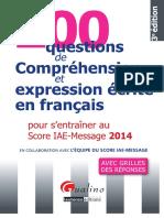 244400698 200 Questions de Comprehension Et Expression Ecrite en Francais PDF