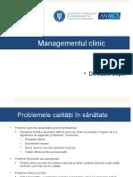 Prezentare Management Clinic