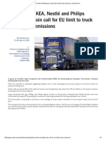 IKEA, Nestlé and Philips Join Call for EU Limit to Truck Emissions