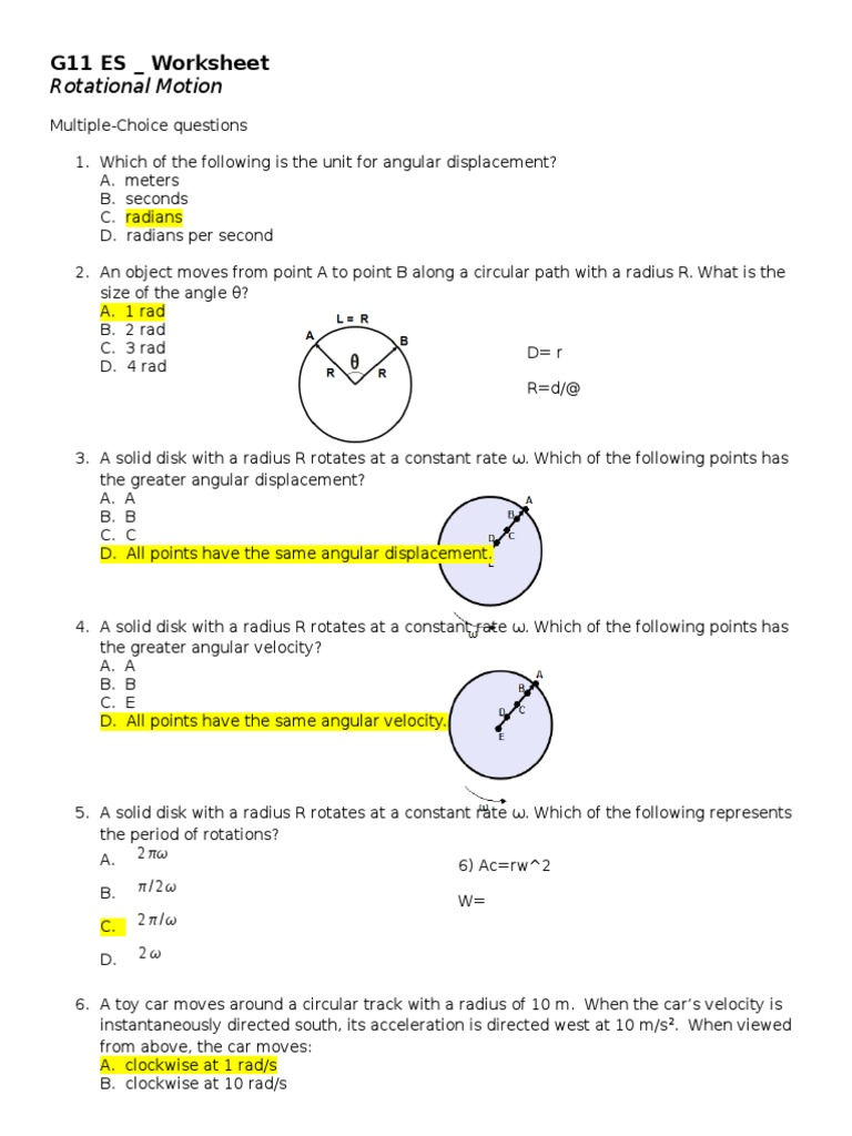 worksheet Rotational Motion Worksheet Luizah Worksheet And Essay – Rotational Motion Worksheet