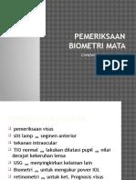 Presentasi Biometri