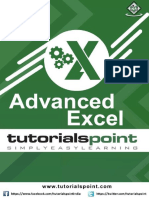 Advanced Excel Tutorial