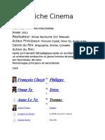 Fiche Cinema