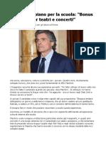 Marchini Piano Scuola, Il programma del candidato per gli Alunni di Roma