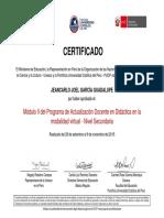 Certificado Modulo II PUCP 2016