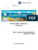 Evaluare Initiala Anemona Mica