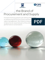 Building the Brand of Procurement and Supply