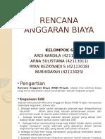 Rencana Anggaran Biaya (Kelompok 6)