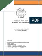 Construction Management Internship Program