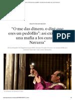 """""""O Me Das Dinero, o Diré Que Eres Un Pedófilo""""_ Así Extorsiona Una Mafia de gitanos Rumanos a Los Curas en Navarra"""