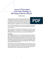 Beware of Warrenism and the False Theology of the Purpose Driven Church
