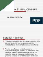 Depresia Si Sinuciderea La Adolescenta