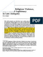 Intolerance, Religious Violence, And Political Legitimacy in Late Antiquity.