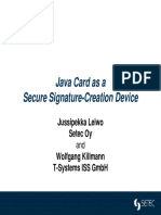 JavaCard as a SSCD