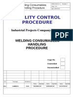 Welding Consumables Handling Procedure.