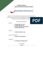 Proyecto Aplicativo Investigación de Operaciones