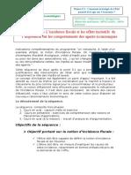 Thème  522 - L'incidence fiscale et les effets incitatifs  de l'imposition sur les comportements des agents économiques