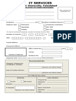 ID Card Proforma for Employees