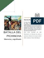 Batalla Del Pichincha, Memoria y Significado