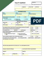MVA Related Fatality Survey