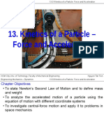 Ch.13 Kinetics of a Particle - Force and Acceleration