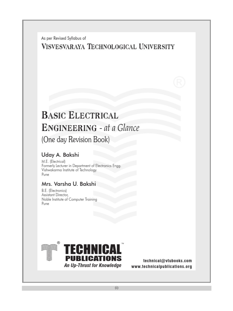 Bakshi Basic Electrical Series And Parallel Circuits Inductance Fundamentals Inductors 101 Electronic Products
