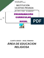 Programación Curricular Anual Oficial de Religion