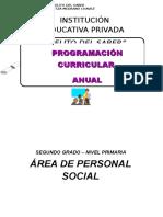 Programación Curricular Anual Oficial de Personal Social