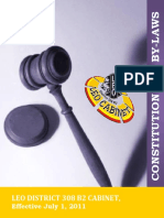 Leo District 308 b2 Cabinet Constitution & by-laws 2015-16