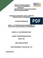Unidad 1 Las Intervenciones de Enferia y Su Vinculacion Con El Diagnostico de Enfermria. Itzamara Enriquez