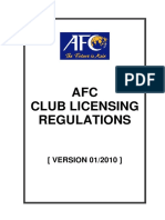 1) AFC Club Licensing Regulations