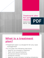 Treatment Plan for Periodontal Diseases NEW