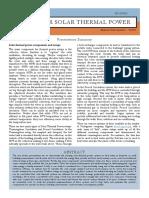 Consumer Solar Thermal Power - Summary