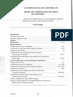 Nia 210 Acuerdo de Los Términos Del Encargo de Auditoría