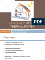 Consumer Solar Thermal Power - Presentation