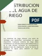 Distribucion Del Agua de Riego
