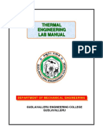 Thermal Engg Lab Manual