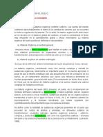 Materia Organica en El Suelo - Informe Risco