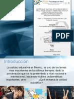 Cuadro Calidad Educativa en Mexico