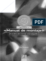 Manual Del Montaje Cinematografico Roy Thompson