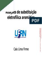 Reações de Substituição Eletrofílica Aromática_parte 1