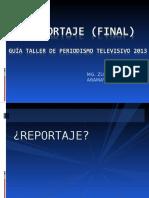 el reportaje televisivo