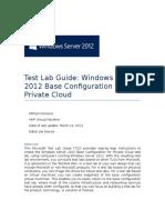 WindowsServer2012_BaseConfig for Private Cloud