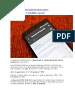 Cómo Activar El Modo Depuración USB en Android