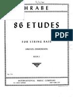 HRABE 86 Estudios Para Contrabajo Book I