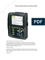 Analizador de Calidad de Energia Trifasico Powerpad Modelo 3954