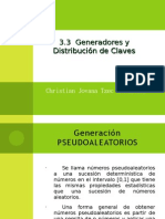 3.3 Generadores y Distribución de Claves