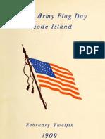 Grand Army Flag Day - Rhode Island - 12 February 1909